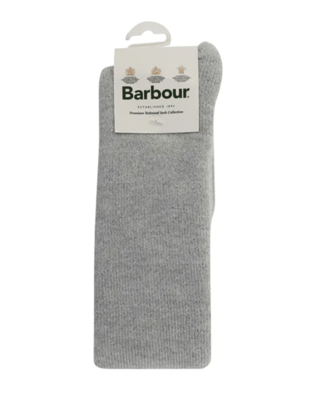 Barbour Women's Knee Welly Socks - Light Grey