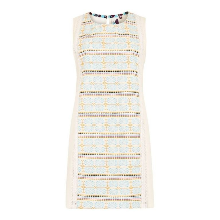 Weird Fish Angelina Embroidered Tunic  - Light Cream