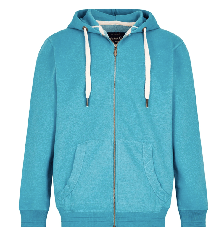 Weird Fish Bruno Zip Hoody  - Pagoda Blue