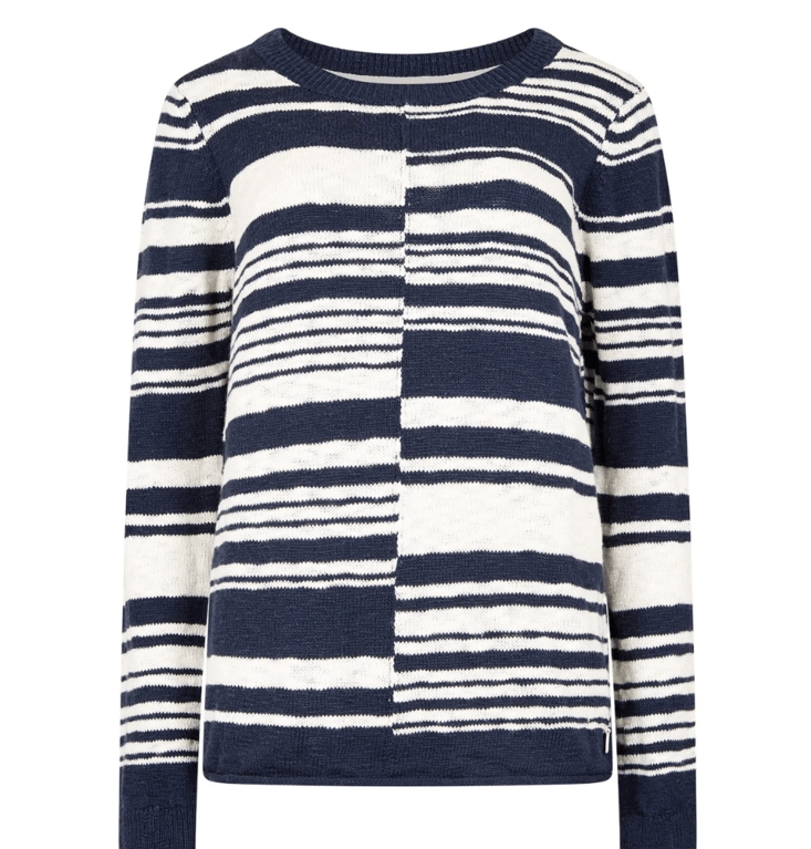 Weird Fish Lassen Slub Jumper - Dark Navy