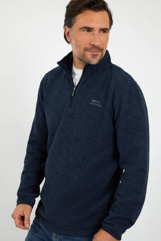 Weirdfish Errill 1/2 Zip  - Dark Navy