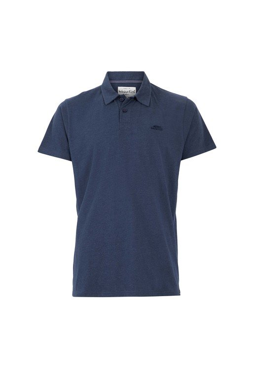 Weirdfish Quay Polo - Navy Marl