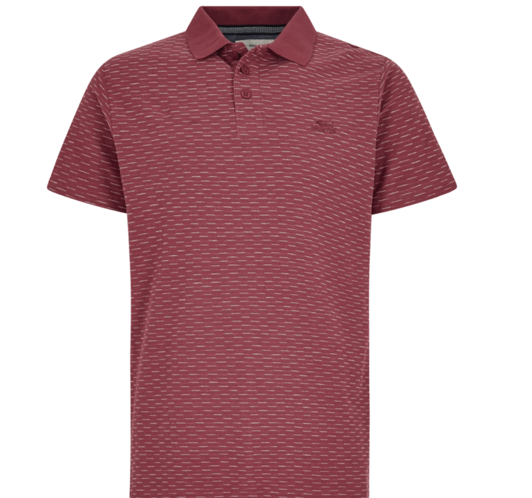 Weirdfish Rydal Polo Shirt - Berry