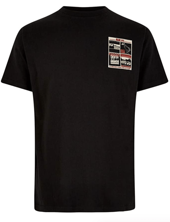 Weirdfish U Tuna Tee  - Black
