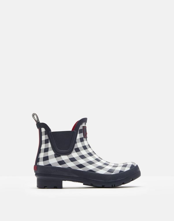 Joules Wellibob - Navy Rose Gingham