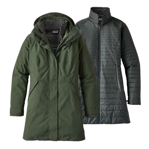 Patagonia Woman's Vosque 3 IN 1 Parka - Carbon