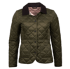 Barbour Deveron Quilted Jacket - Olive Thumbnail