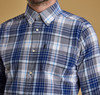 Barbour Oxford 3 Check Tailored Shirt  - Electric Blue Thumbnail